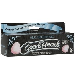 Doc Johnson Good Head Oral Delight Gel - Cotton Candy (4 oz)