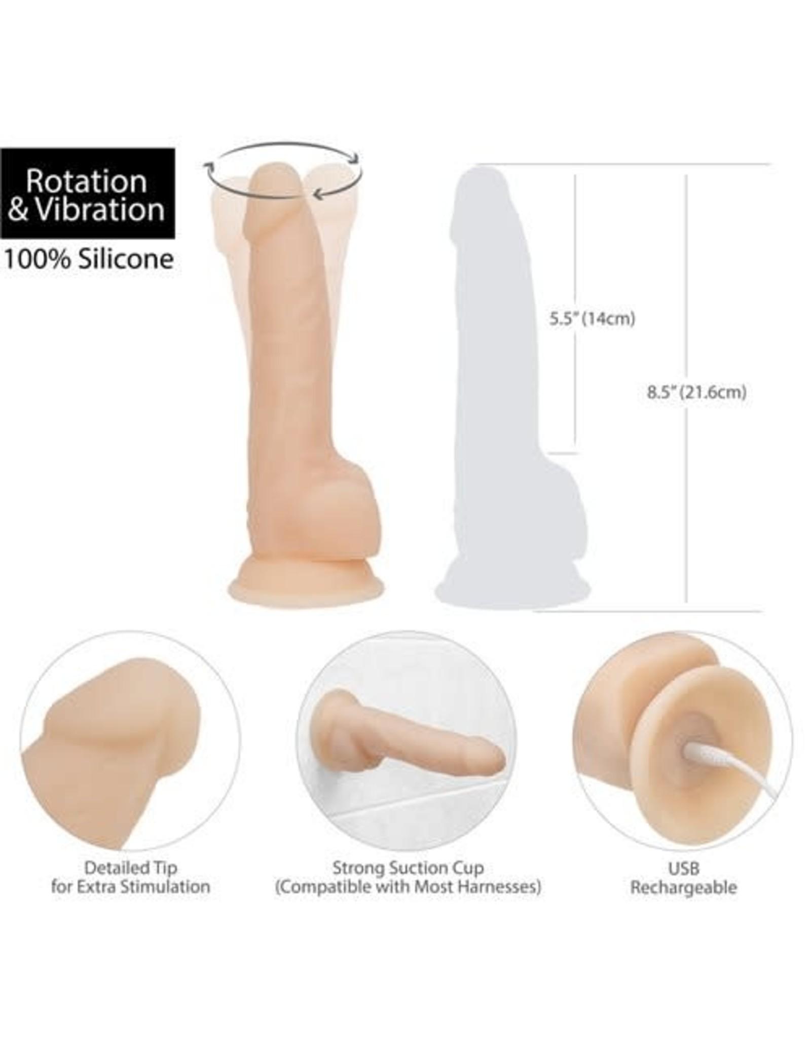"""Naked Addiction Naked Addiction 8"""" Rotating & Vibrating Dong"""