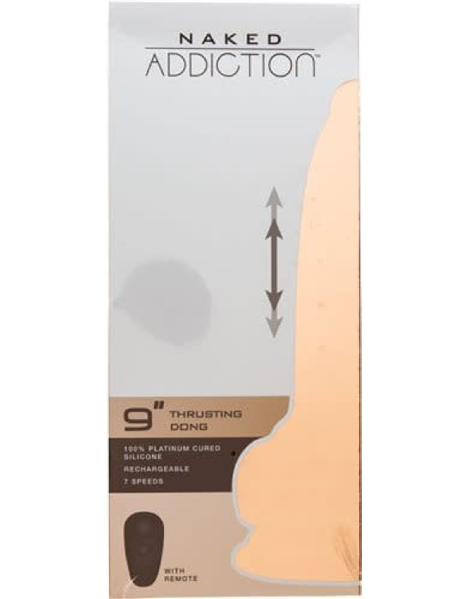 """BMS Factory Naked Addiction 9"""" Thrusting Dong W/ Remote"""
