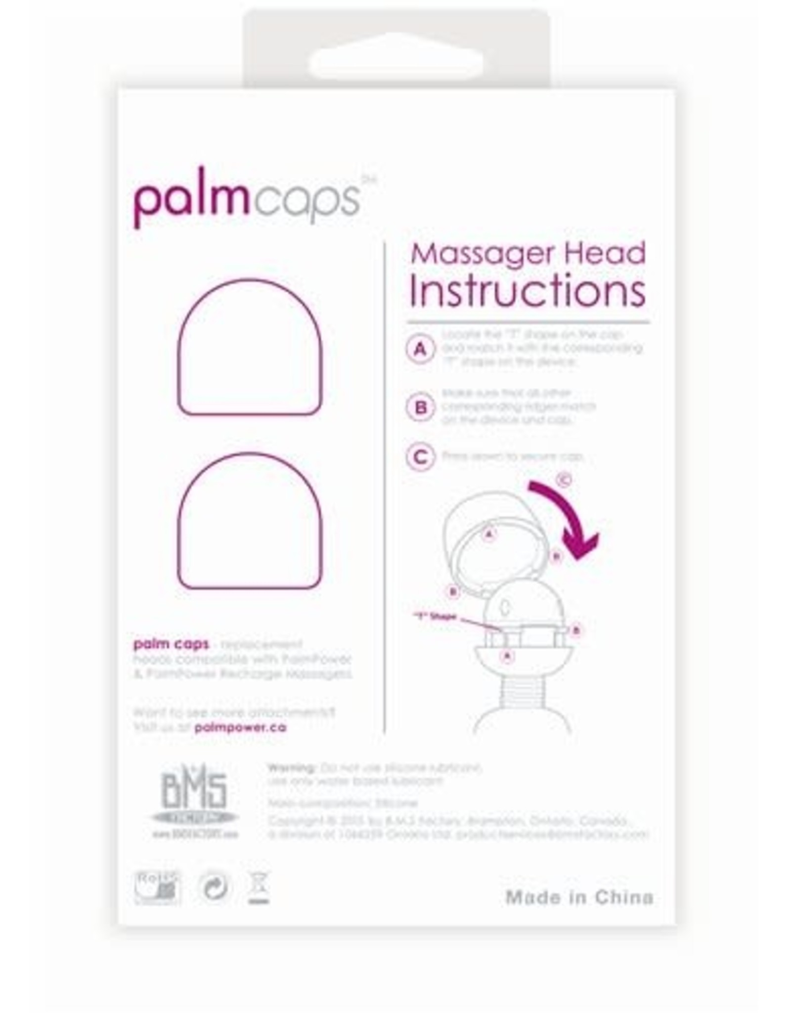 Palm Power Palm Power Palm Caps 2 Silicone Massager Heads