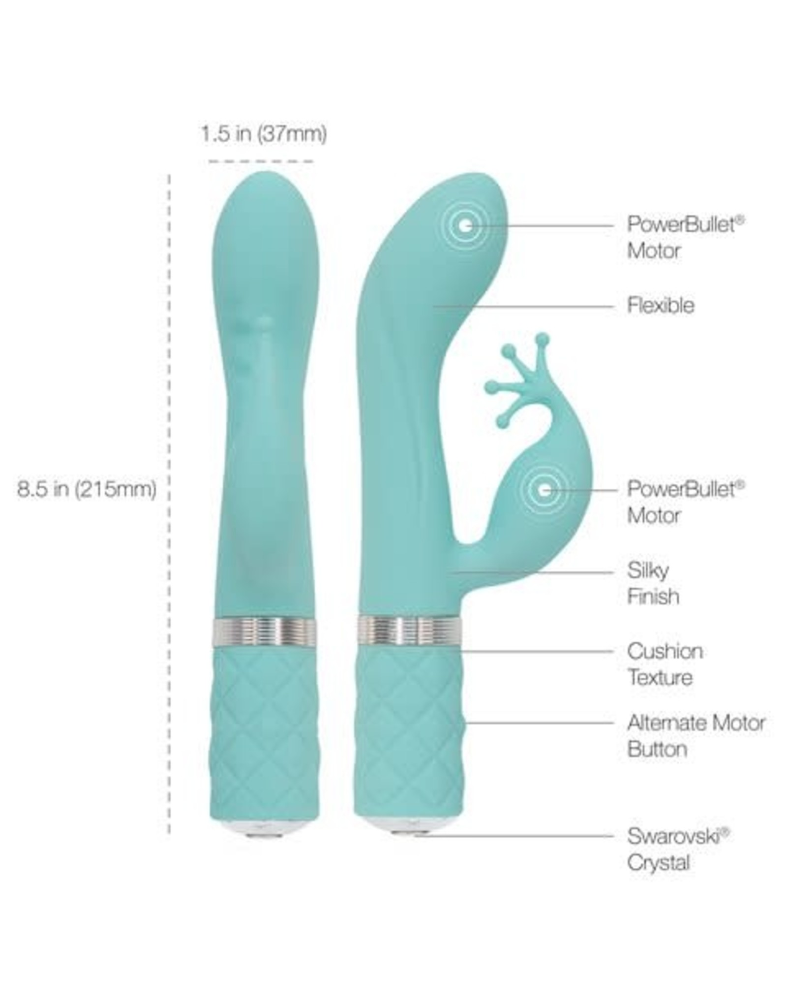 Pillow Talk Pillow Talk Kinky Luxurious Dual Massager Teal