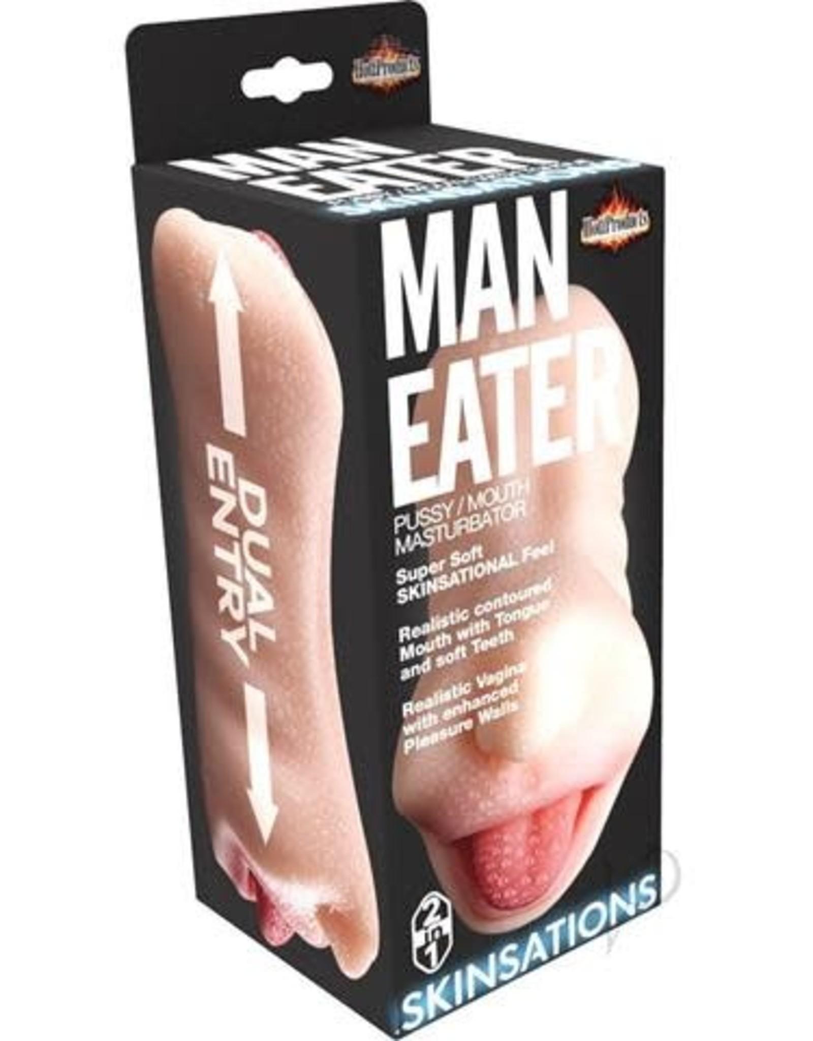 Hott Products Man Eater - 2 in 1 Masturbator