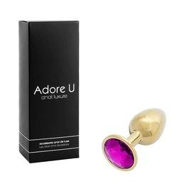 Adore U Adore U Anal Luxure Gold Small Purple