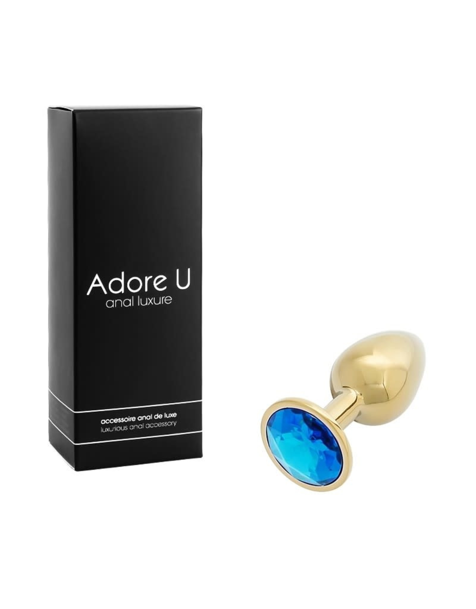 Adore U Adore U Anal Luxure Gold Small Blue