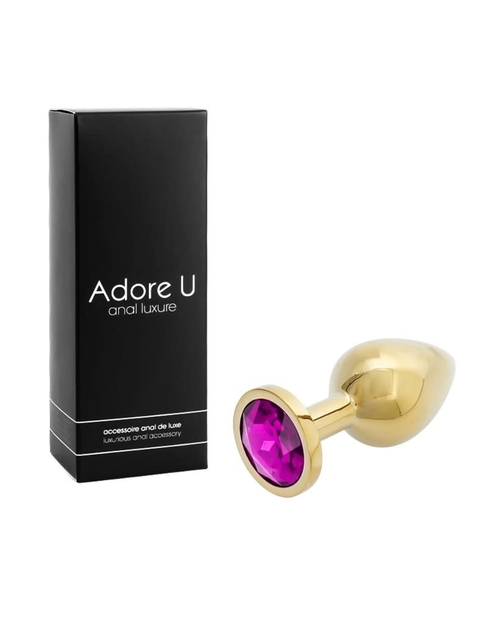 Adore U Adore U Anal Luxe Gold Purple Medium
