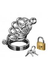 Master Series Asylum - 4 Ring Locking Chastity Cage