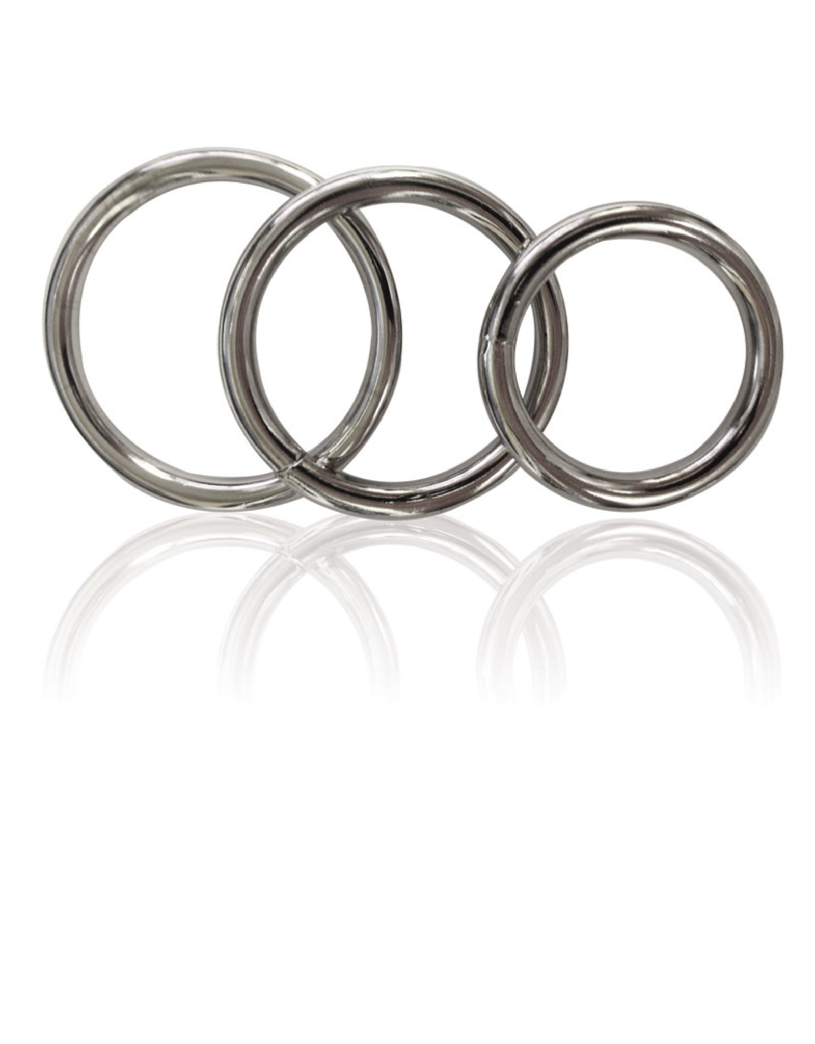 Sportsheets Manbound Metal Cock Ring 3 Piece Set