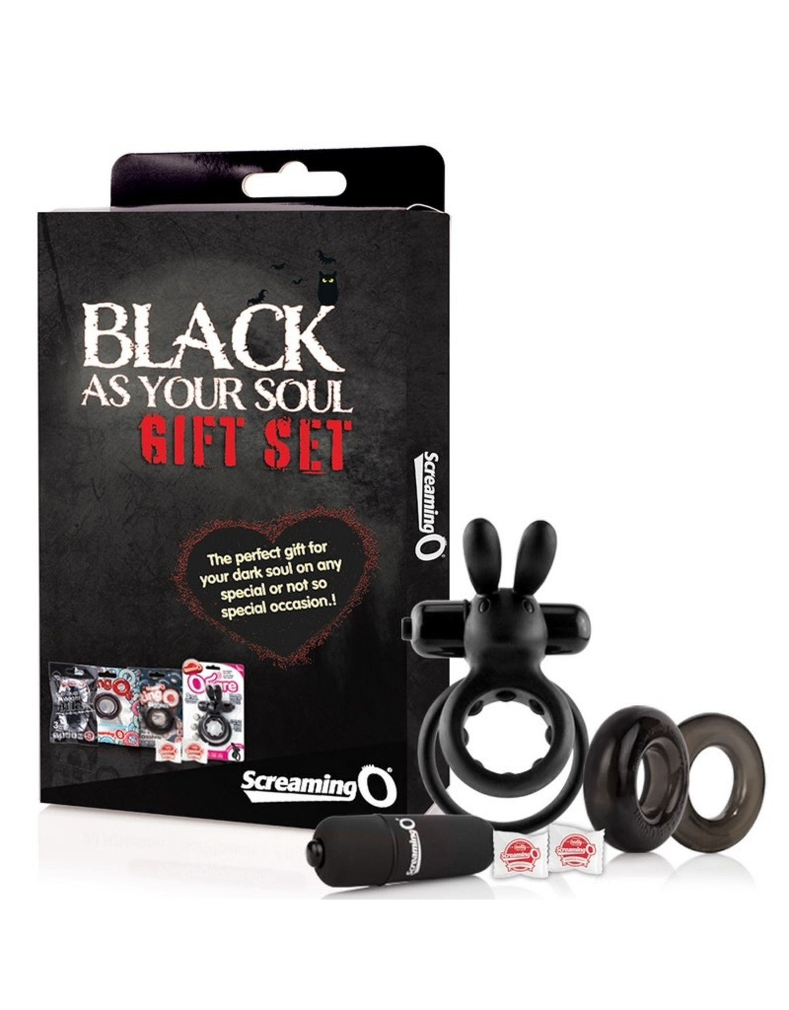 Screaming O BLACK AS YOUR SOUL GIFT SET