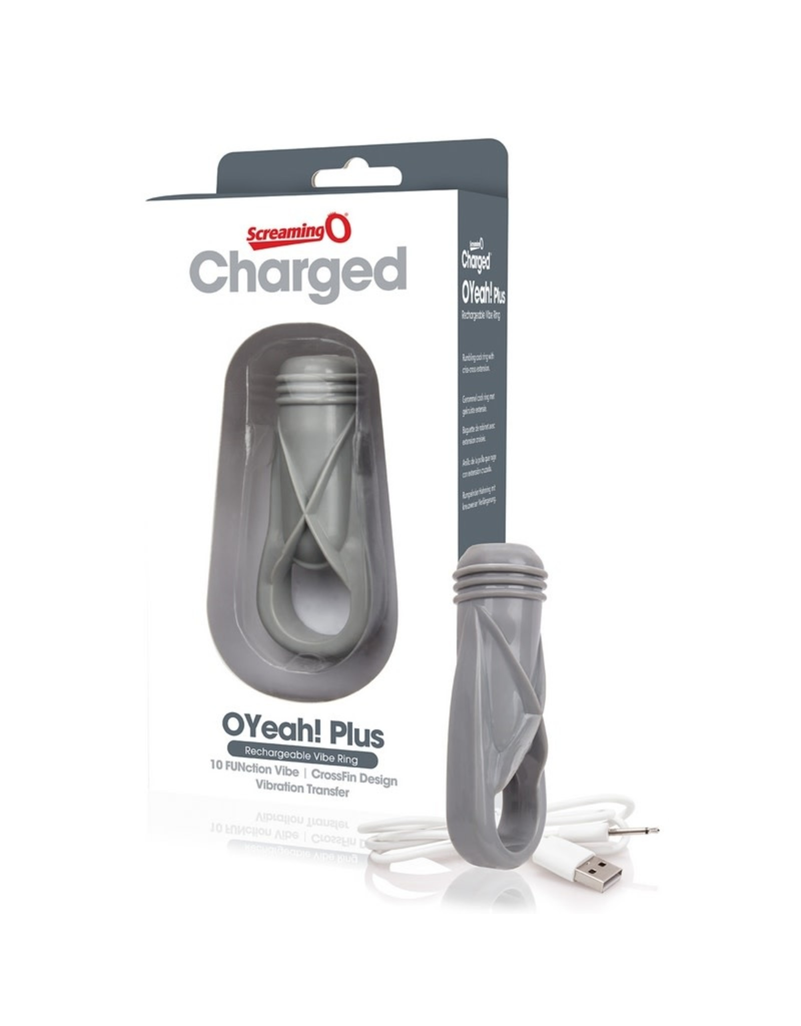 Screaming O ScreamingO Charged - OYeah! Plus - Rechargeable Vibe Ring