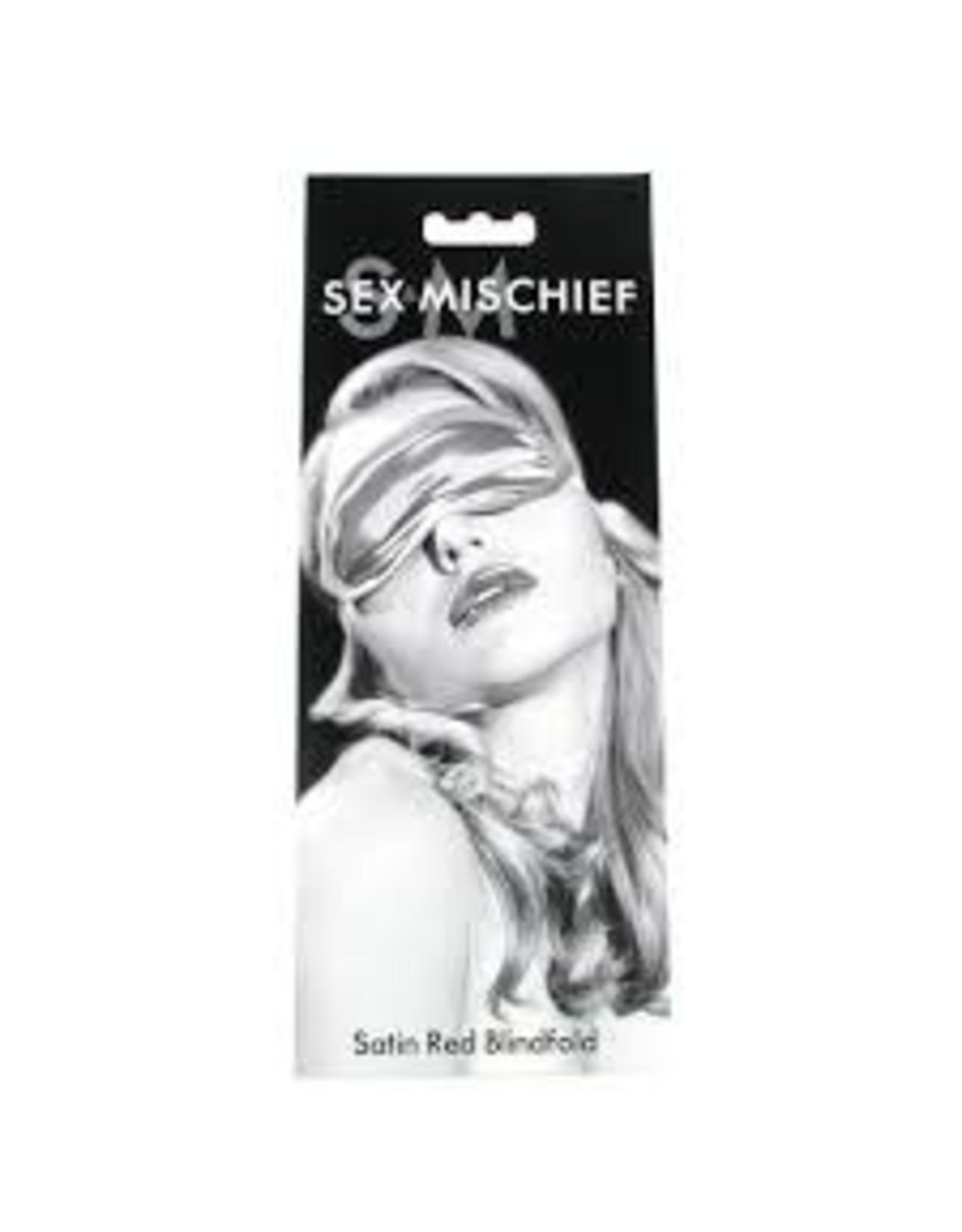 sex & mischief Sex & Mischeif Satin Red Blindfold