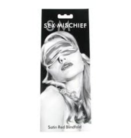 sex & mischief Sex & Mischeif Satin Red Blindfold