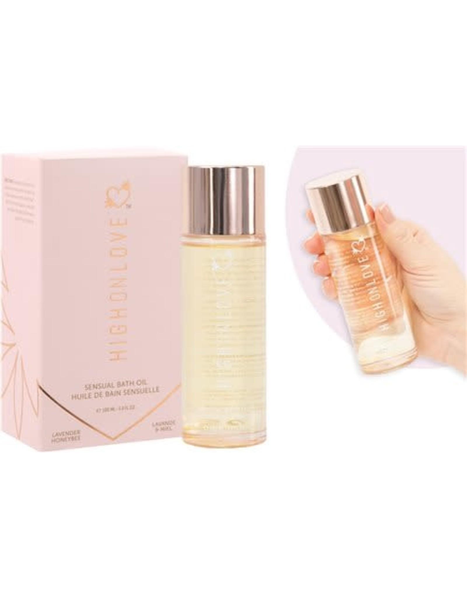 High On Love Sensual Bath Oil Lavender/Honeybee 3.4oz