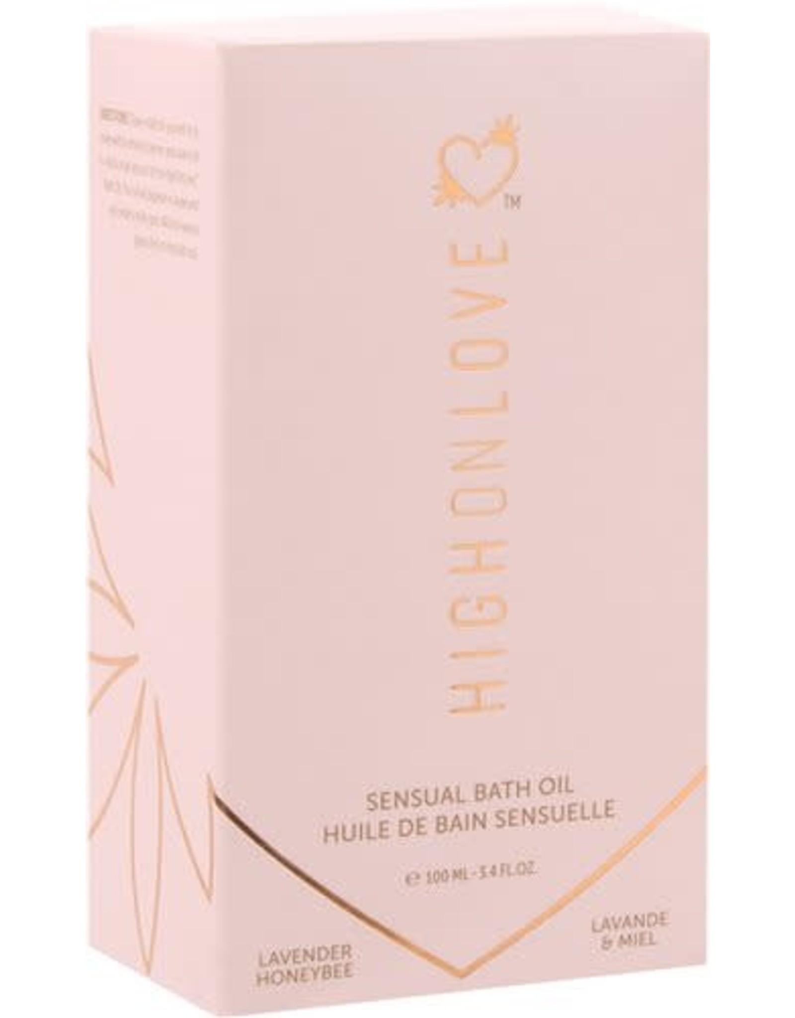 High On Love High On Love Sensual Bath Oil Lavender/Honeybee 3.4oz