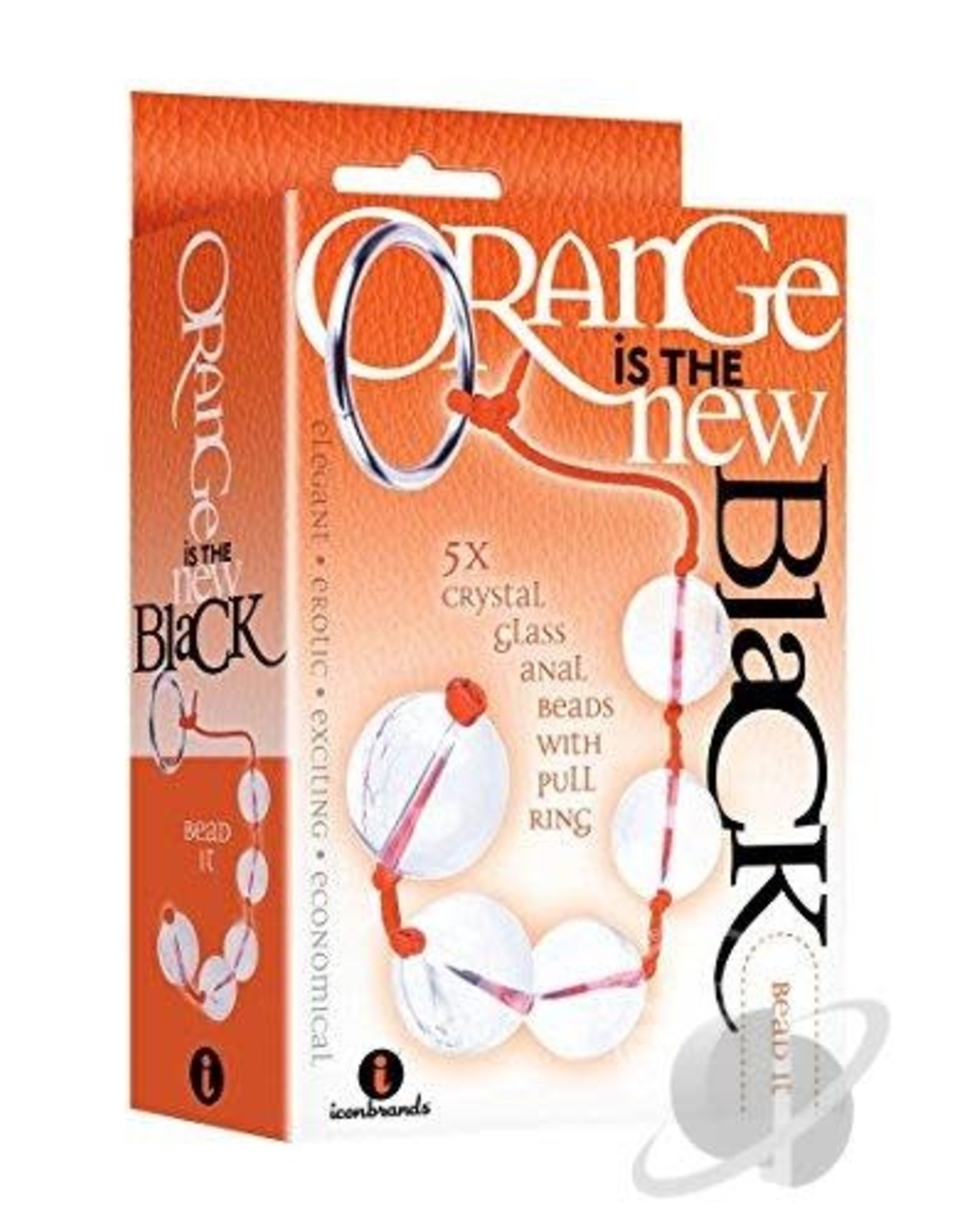 Orange is the New Black - 5 Crystal Anal Beads