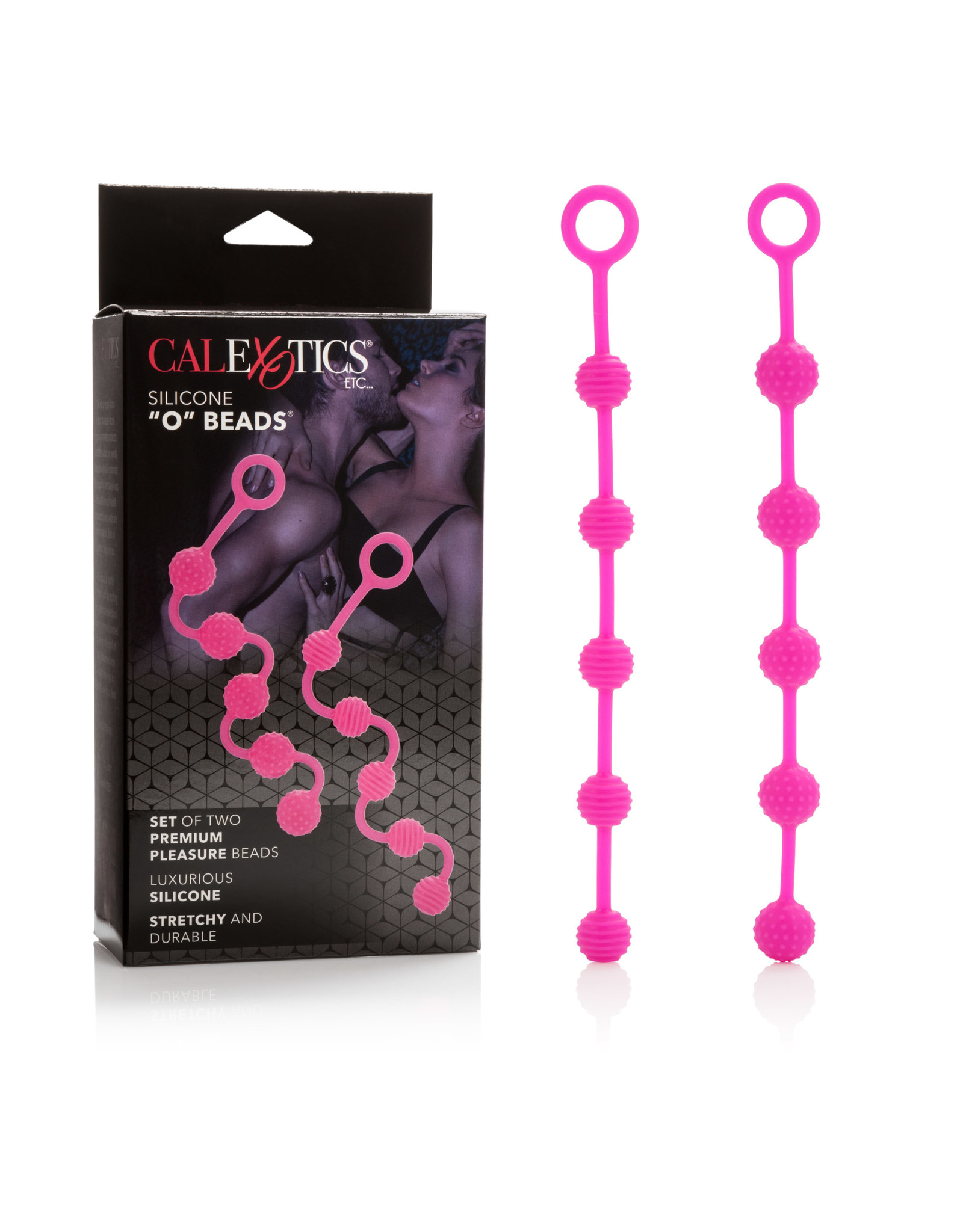 "California Exotics Silicone ""O"" Beads - Set of Two (Pink)"