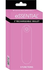 """Essential 3"""" Rechargeable Bullet w/9 Functions (pink)"""