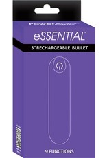"""Essential 3"""" Rechargeable Bullet w/9 Functions (purple)"""