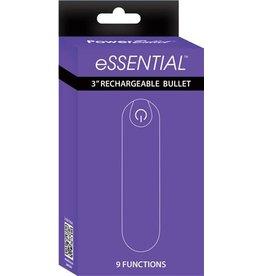 "Power Bullet Essential 3"" Rechargeable Bullet w/9 Functions (purple)"