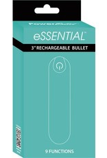 """Essential 3"""" Rechargeable Bullet w/9 Functions (teal)"""