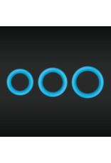 NSNOVELTIES Firefly Super Stretchable Halo Medium Silicone Cock Ring (blue)