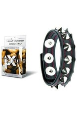 Triple X - 3 Snap Short Studded Cock Strap - Genuine Leather