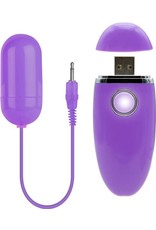 BMS Factory Persist Vibrating Bullet With USB Rechargeable Controller Purple