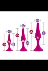 Blush Novelties Luxe - Beginner Silicone Butt Plug Kit - Pink