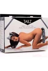 Tailz Tailz Grey Wolf Tail Anal Plug& Ear Set