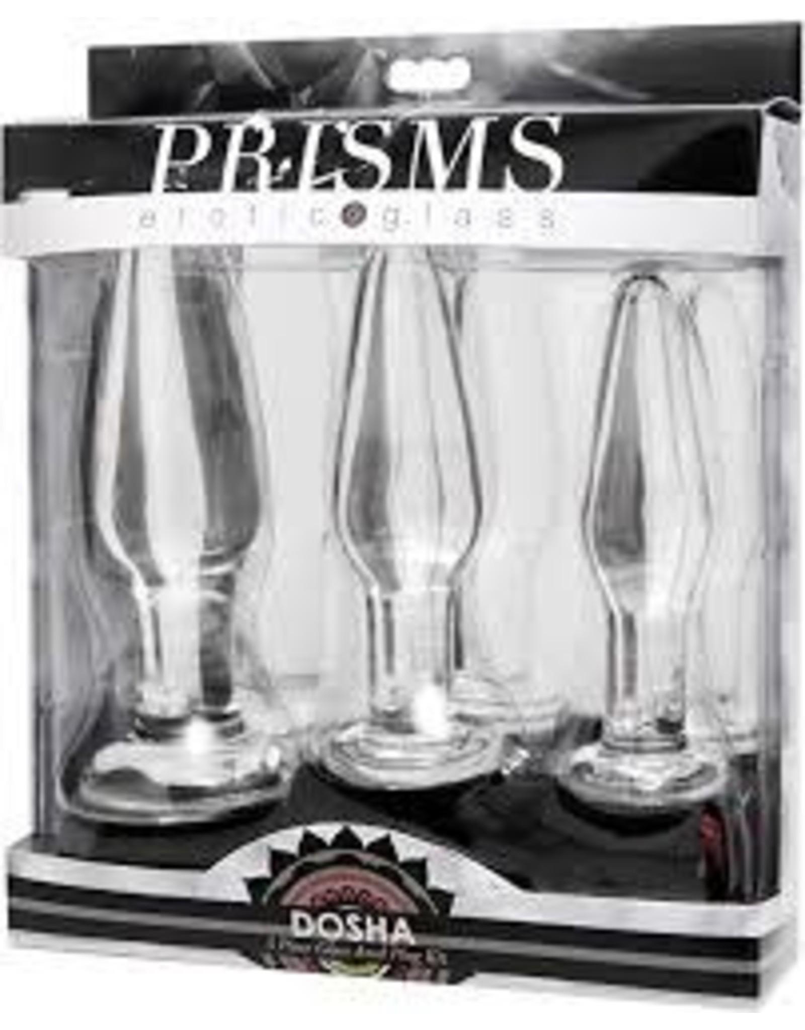 Prisms Dosha 3 Piece Glass Anal Plug Kit