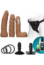 Doc Johnson Vac U lock Vibrating Harness Starter Set  Camel