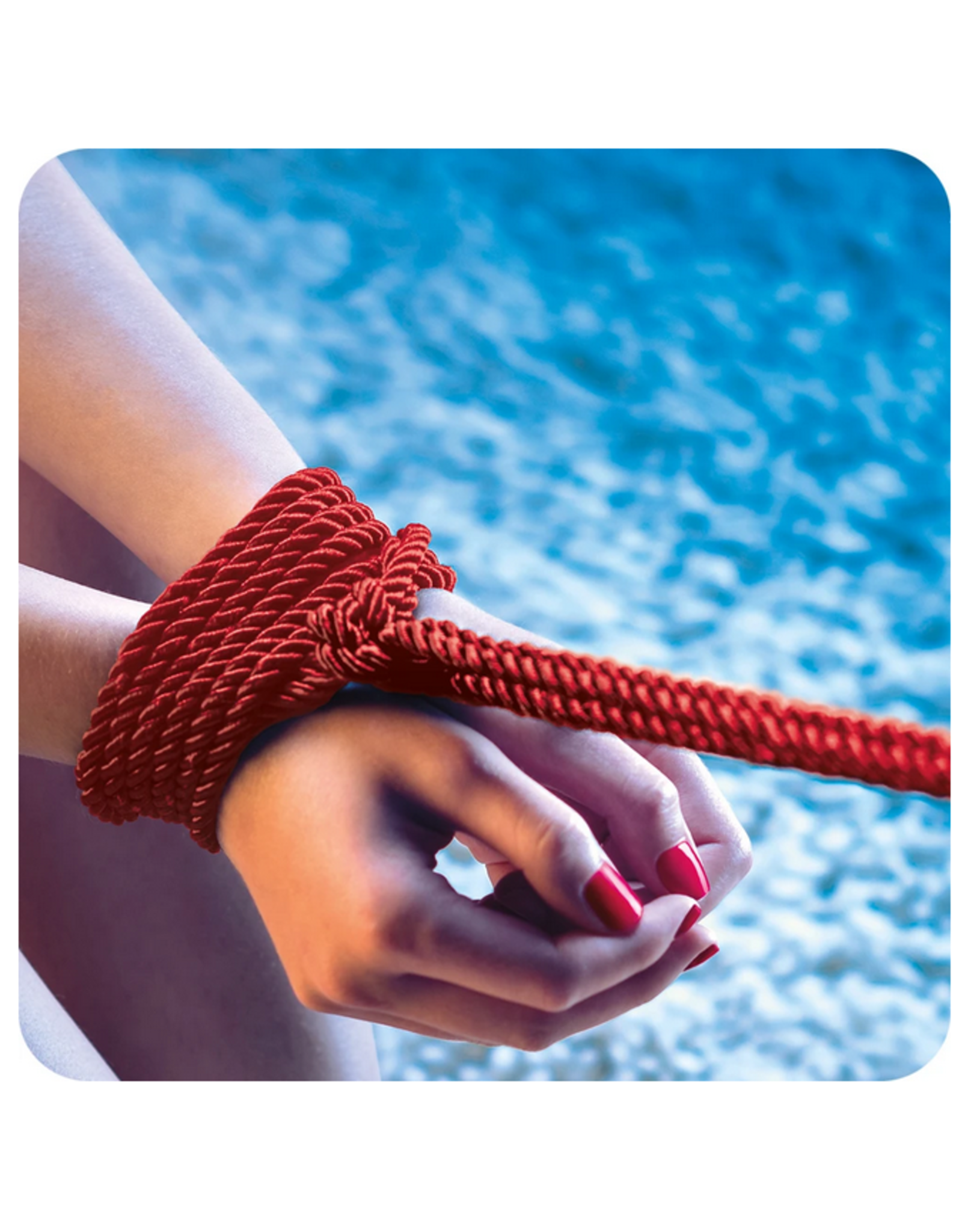 Scandal Scandal BDSM Rope 98.5'/30m  in Red