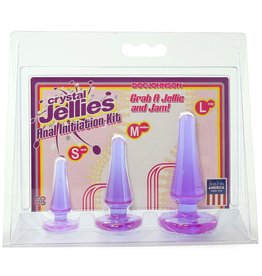 Doc Johnson Crystal Jellies Anal Initiation Kit  Purple