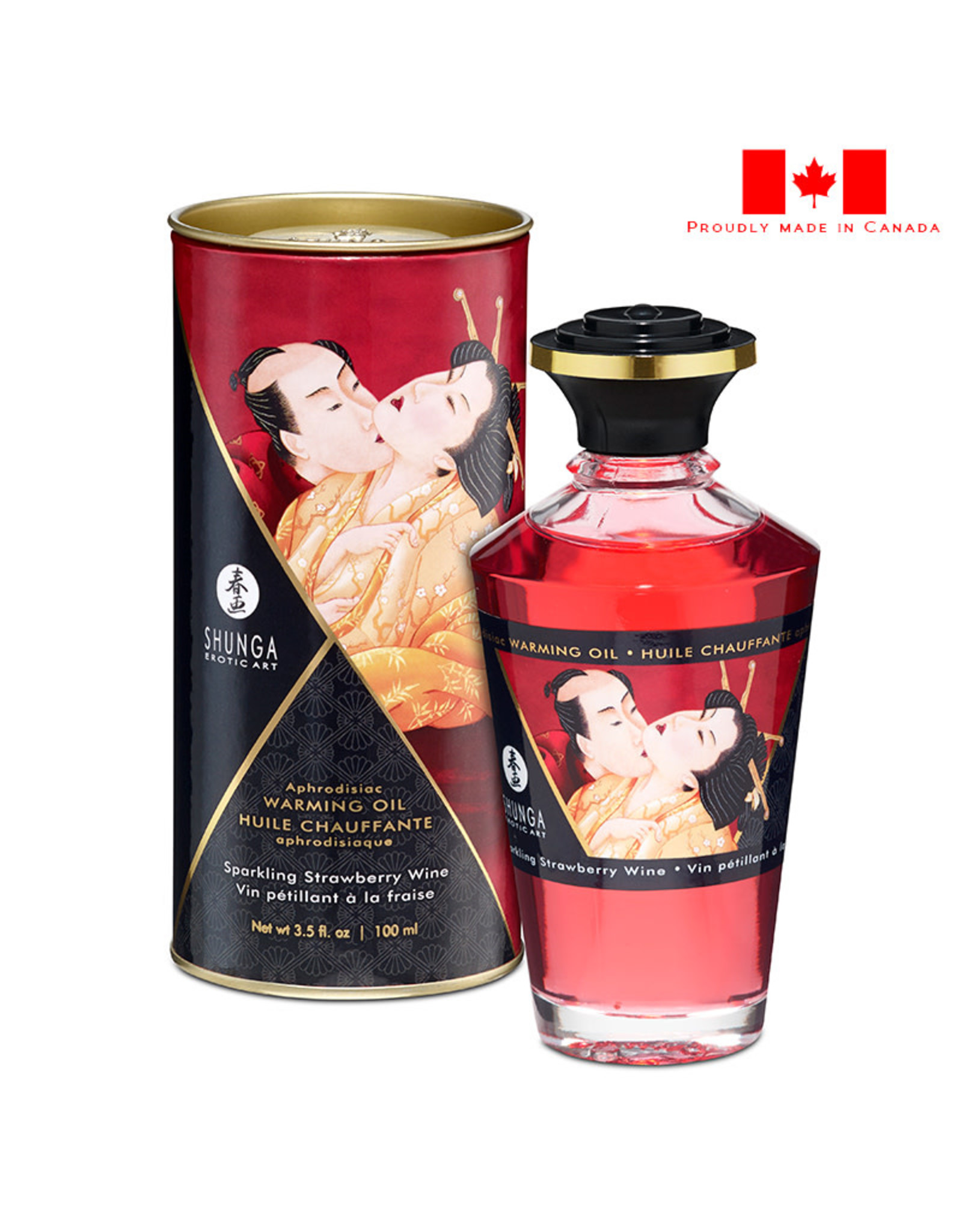 Shunga Shunga Intimate Kisses Aphrodisiac Oil _ Sparkling Strawberry Wine