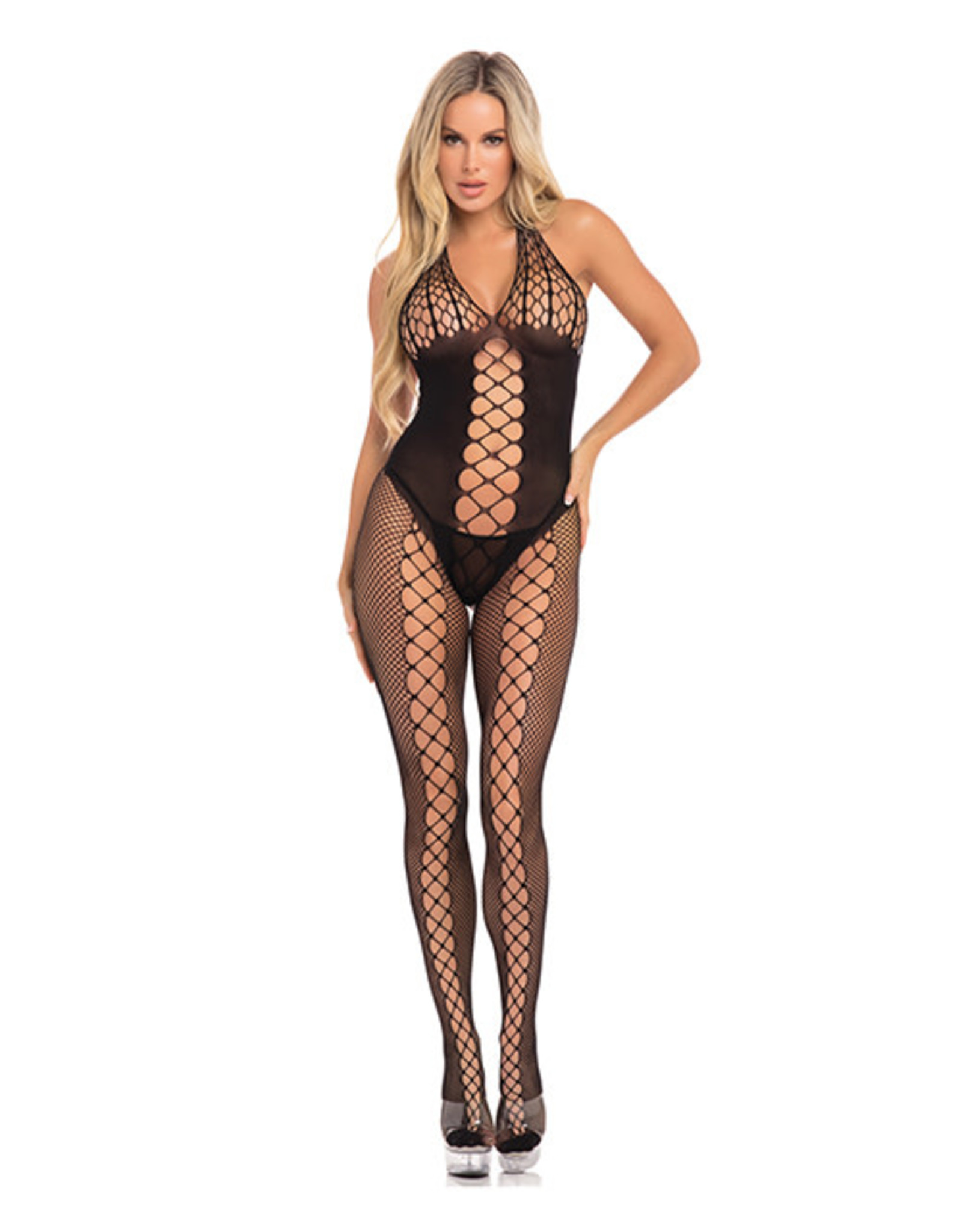Pink Lipstick Sister Of Mercy Body Stocking OS