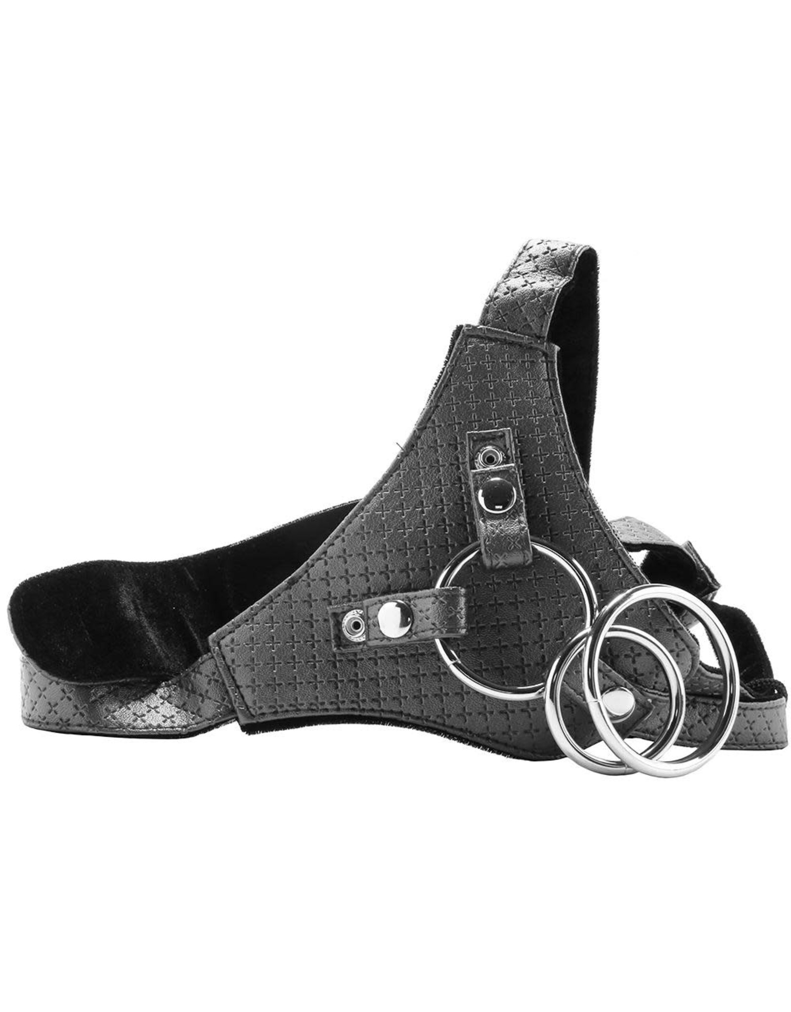 Calexotics Her Royal Harness- The Regal Queen (Pewter)