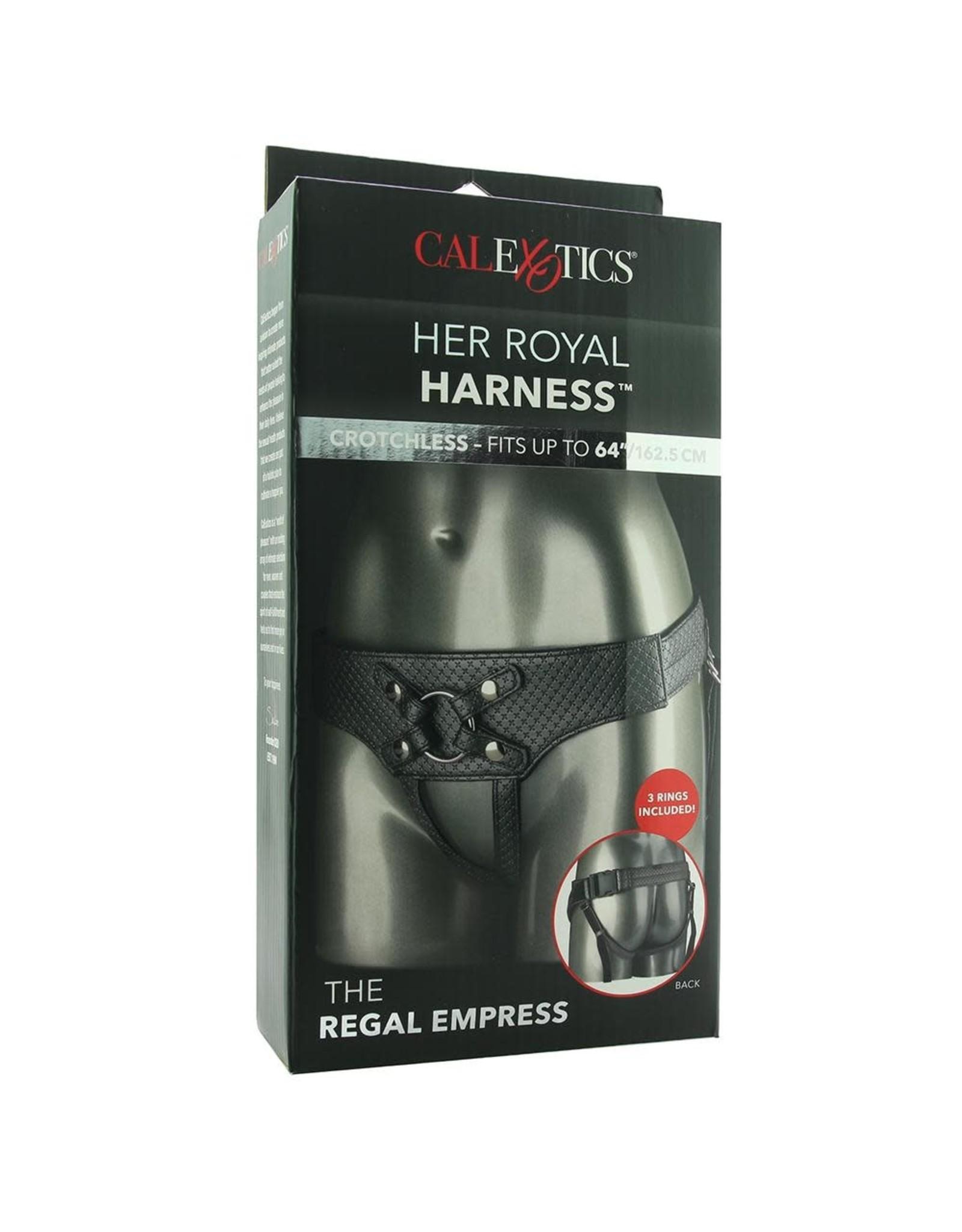 Calexotics Her Royal Harness The Regal Empress (Pewter)