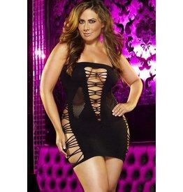 LapDance Backroom Mini Dress (Black) OS/XL
