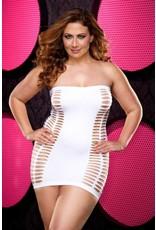 Bling Bling Naughty Girl White Mini Dress OS/XL