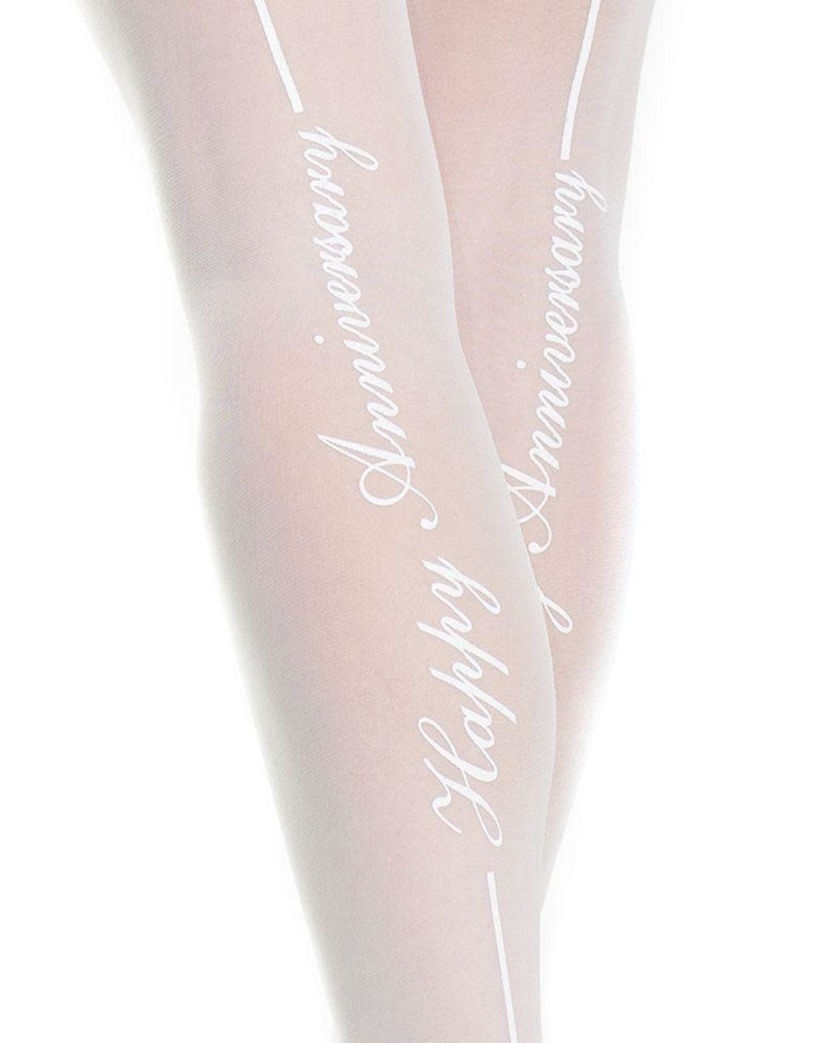 Coquette Happy Anniversary! White Thigh Highs in OS/XL