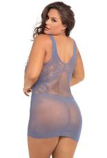 Lace Fantasy Pastel Blue Mini Dress OS/XL