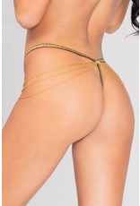 Lady of Chain Black G-String in OS