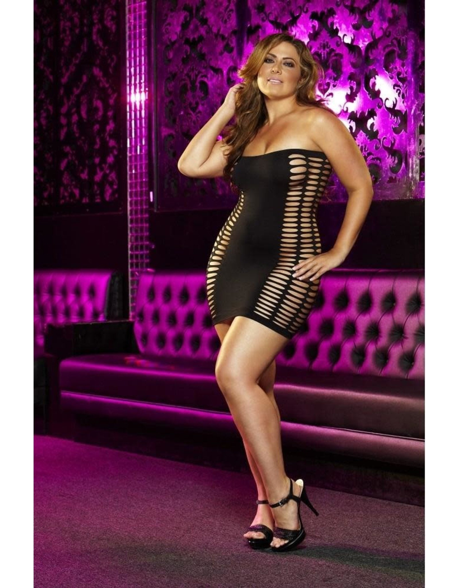 Naughty Girl Black Mini Dress OS/XL