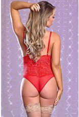 Risque Business Teddy Red  S/M
