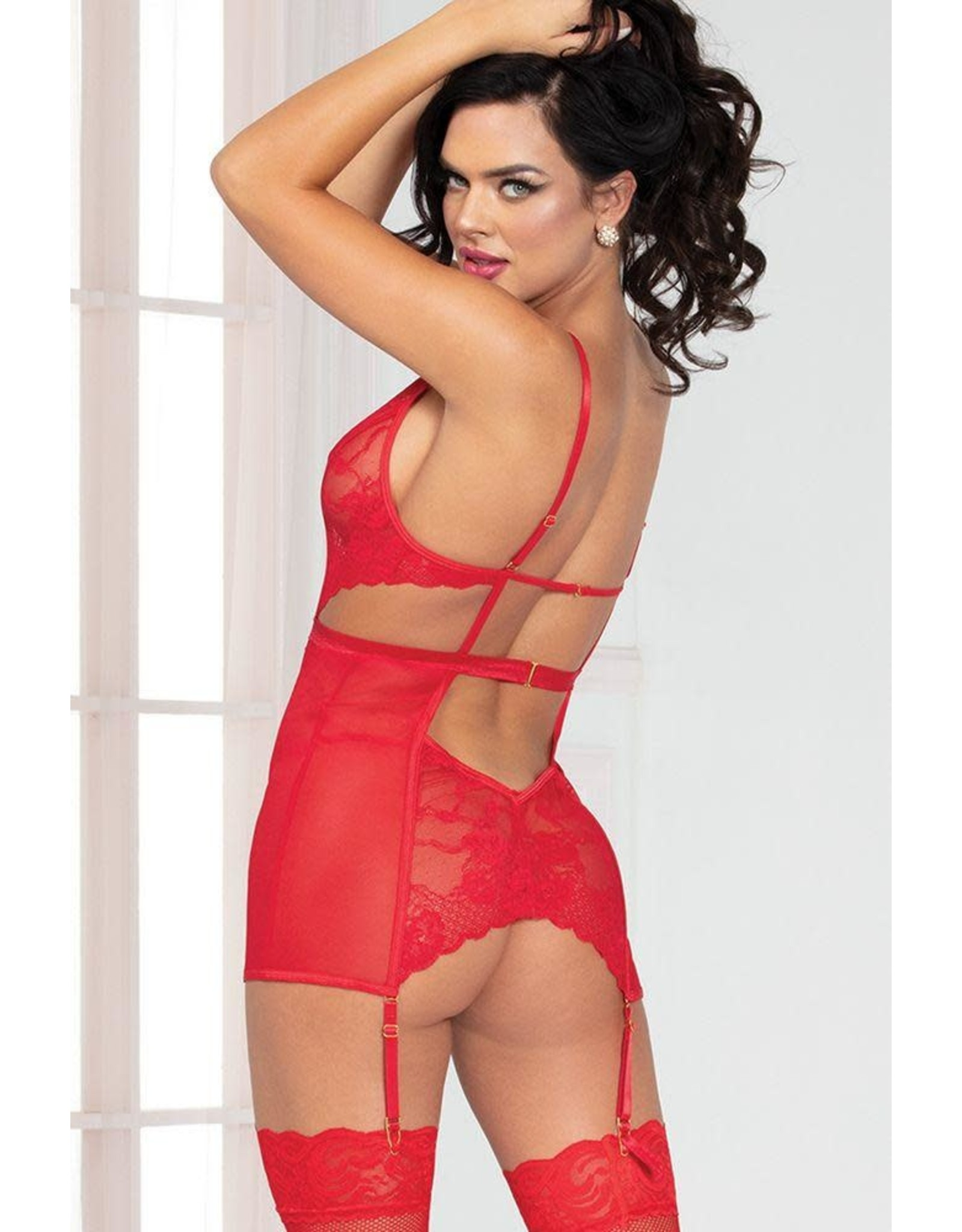 Take Me Red Chemise Set in OS