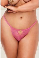 Baci The Amazing Lace Open Crotch Pink Panty 1X/2X
