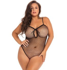 Rene Rofe Sexy Undone See Through Bodysuit Black OS/XL