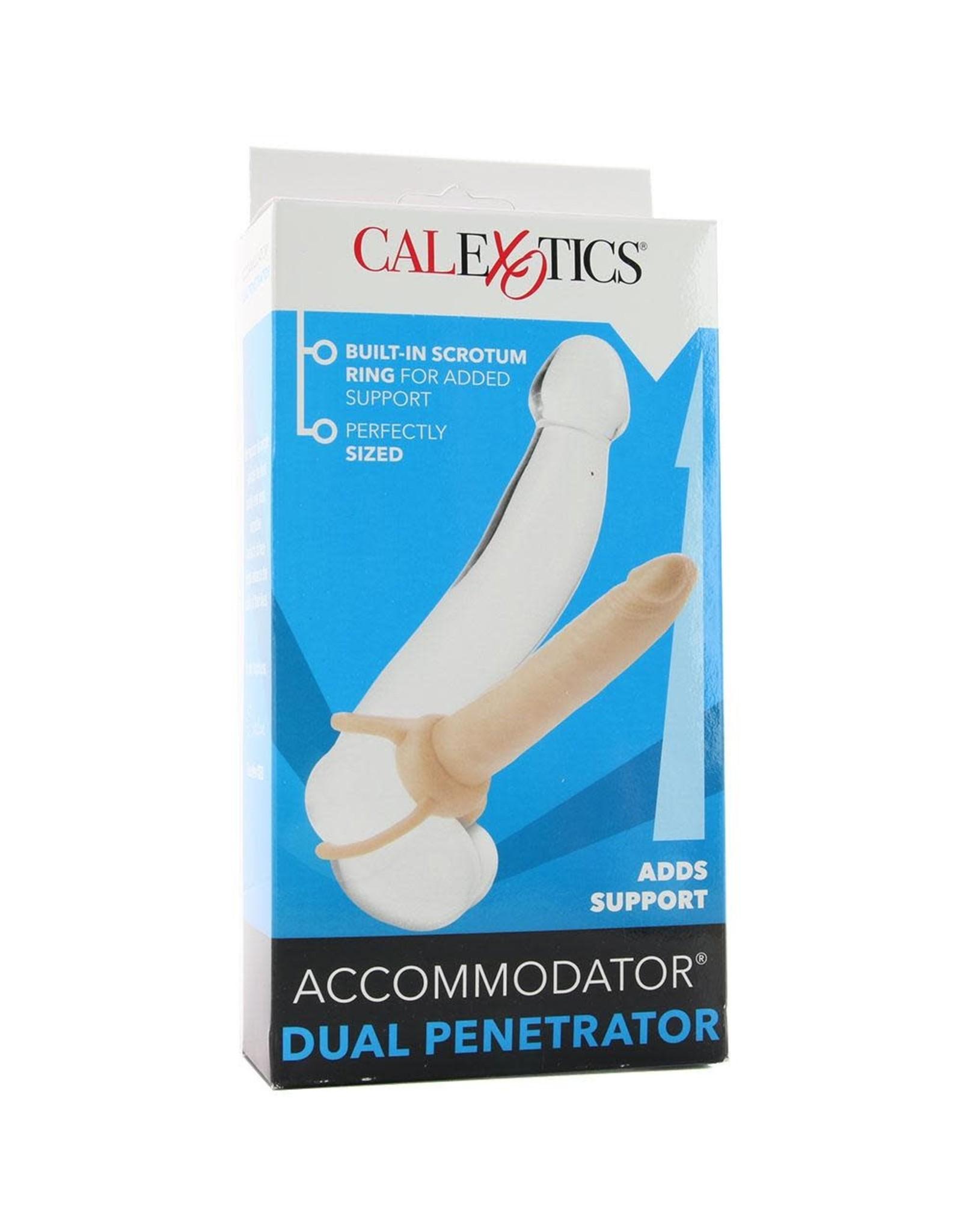 Calexotics Accommodator- Dual Penetrator in Ivory