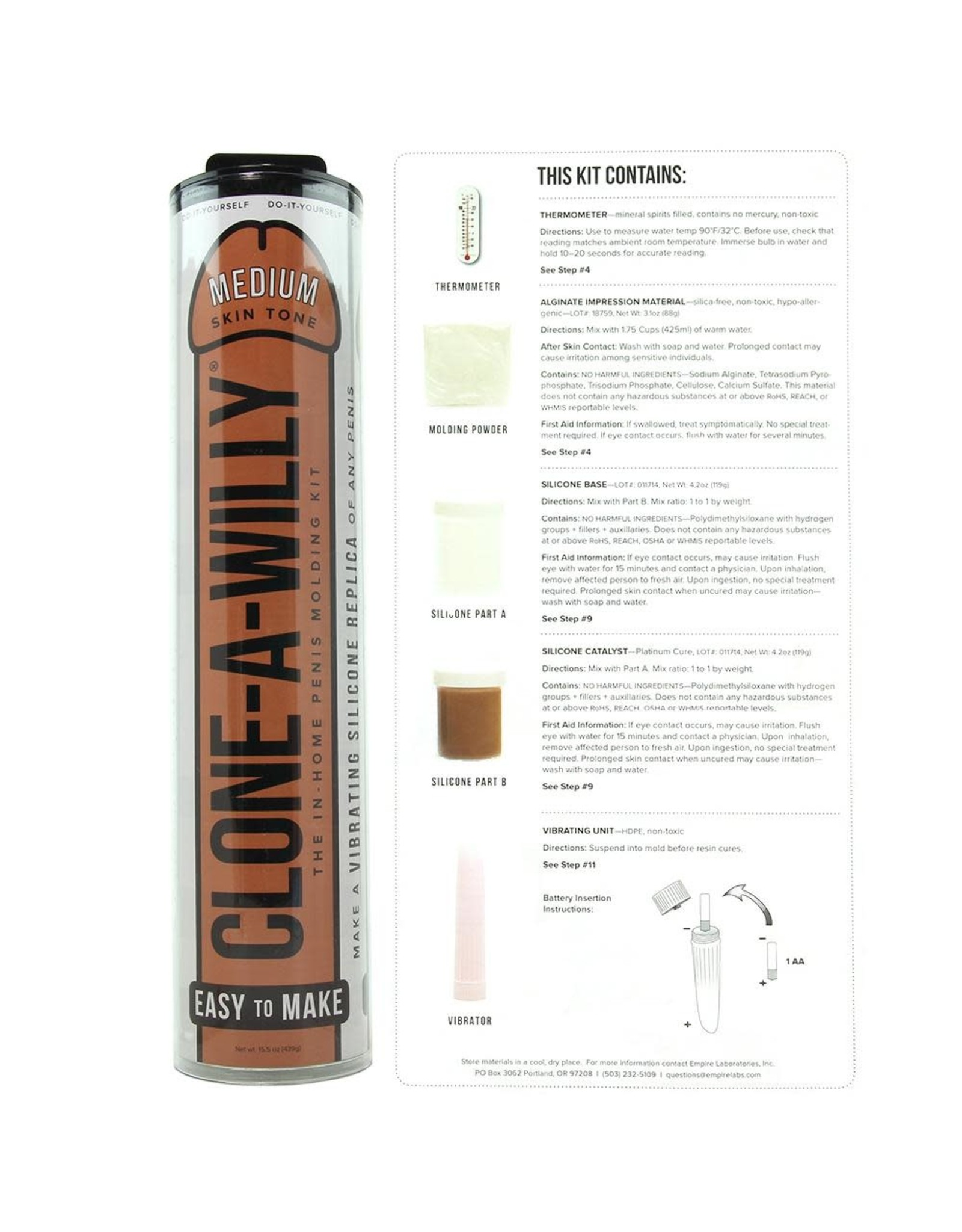 Empire Labs Clone-A-Willy Vibrator Kit in Medium