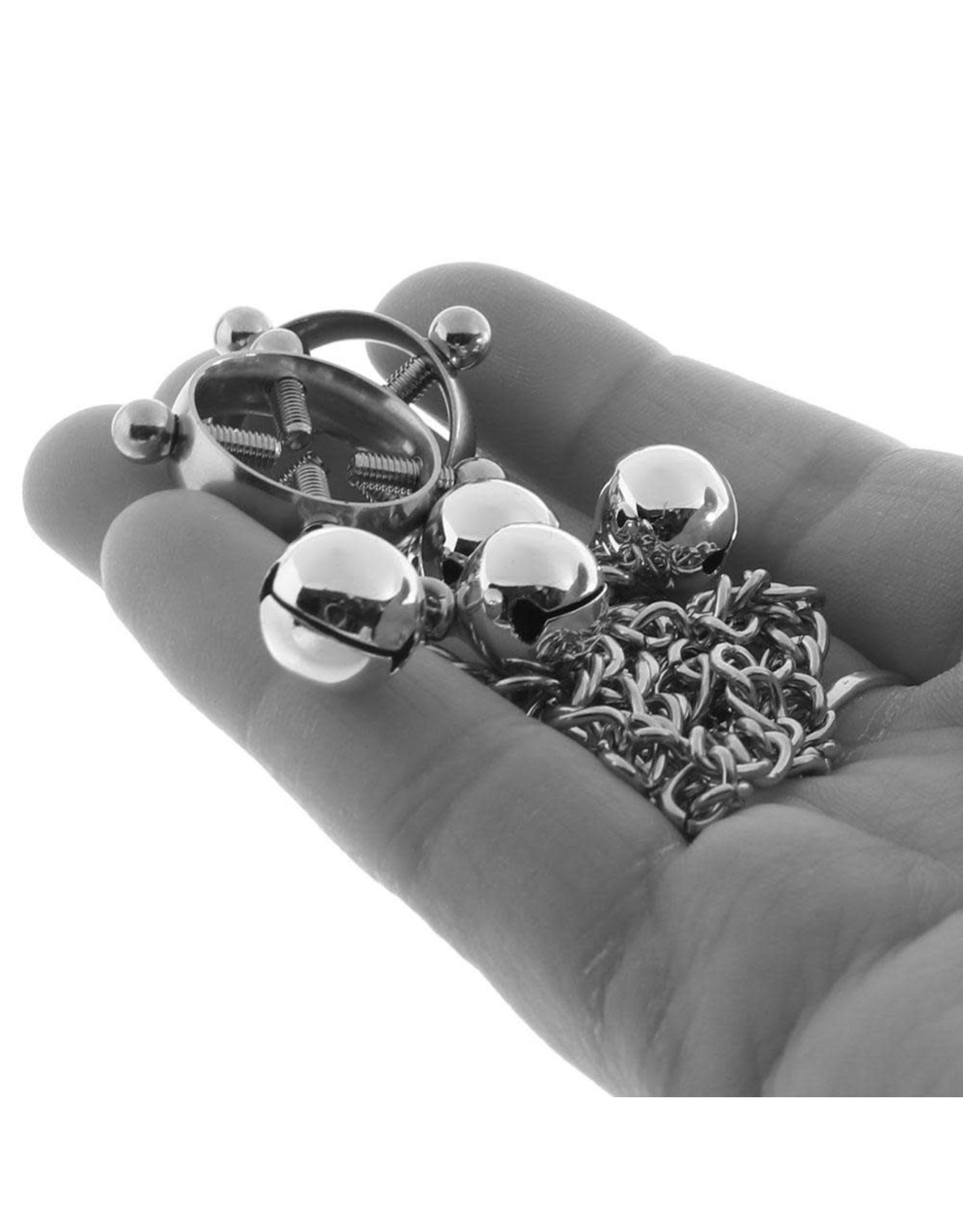 Calexotics Calexotics - Nipple Grips 4 Point Nipple Press with Bells
