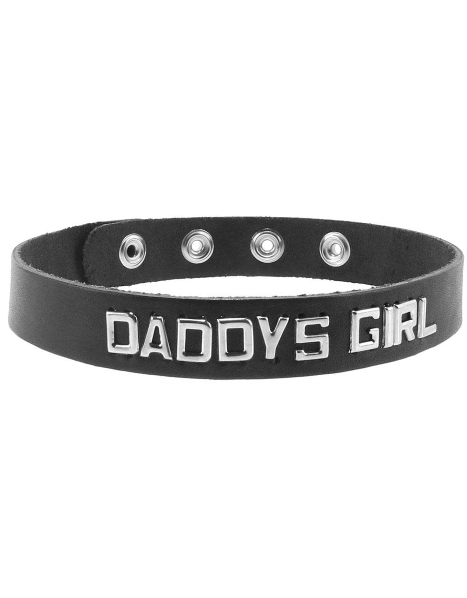 Spartacus Daddy's Girl Leather Word Band Collar